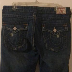 True Religion Distressed Dark Jeans SZ 31